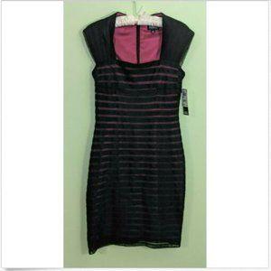 Adrianna Papell Tucked Netting Bodycon Dress